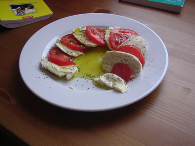 tomatoes and mozarella